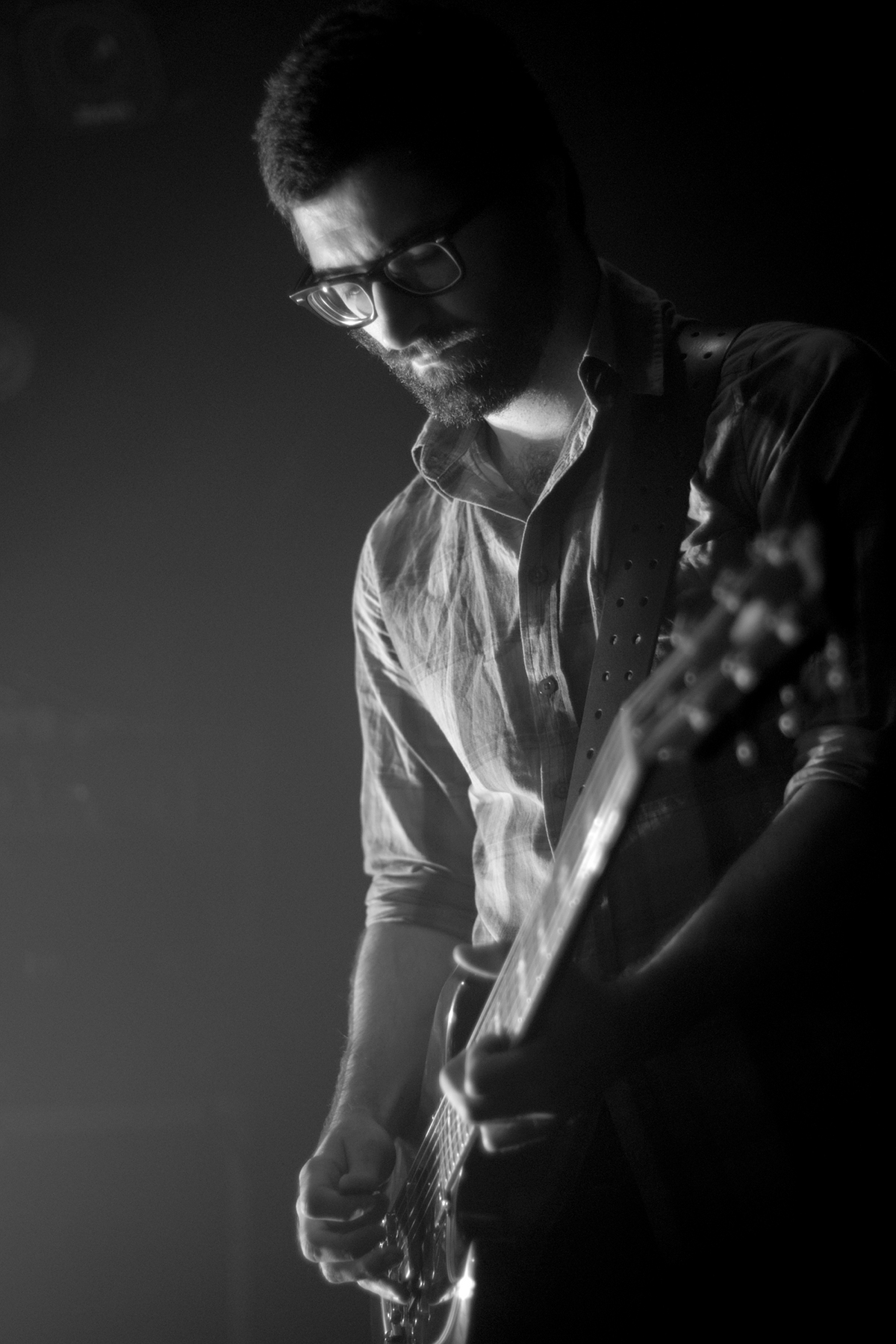 Guitar, B&W, Year Of No Light, La Maroquinerie, Paris
